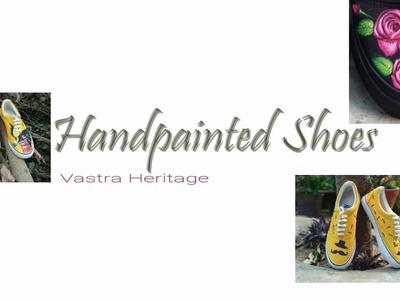 DIY-Handpainted shoes. .eagle eye canvas painted shoe. .(wearable art)
