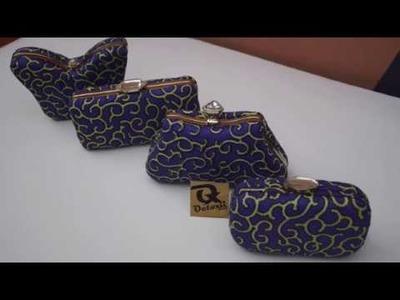 Diy making purse with frame and ankara