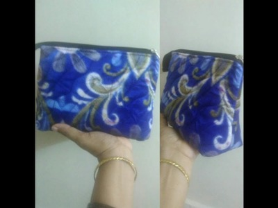 DIY Multiuser pouch. cosmetic pouch .   easy way for beginners
