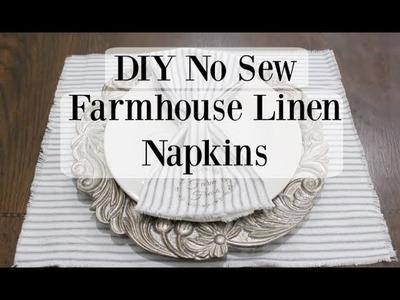 DIY NO SEW FARMHOUSE NAPKINS | FARMHOUSE DECOR | HOME DECOR