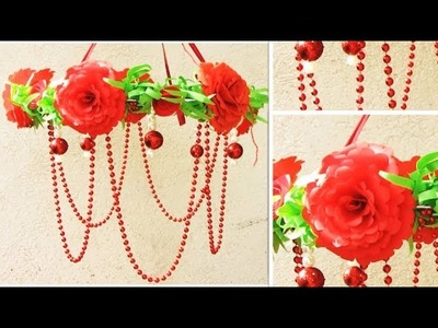 DIY. PAPER & Newspaper Craft Idea. Ceiling Hanging from Paper.Wind Chime. Home Decor. 2018 #10