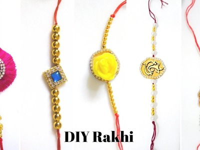 DIY Rakhi.How to Make Rakhi in home with in 2 Minutes. 5 Rakhi Making