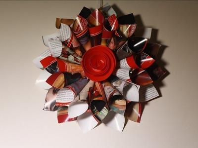 DIY Room Decor fabulous wreaths   Simple Wall Hanging Magazine Crafts