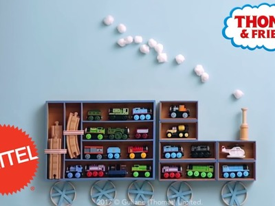 DIY Thomas Train Shelves! Room Decor for Kids! | Thomas & Friends | Mattel