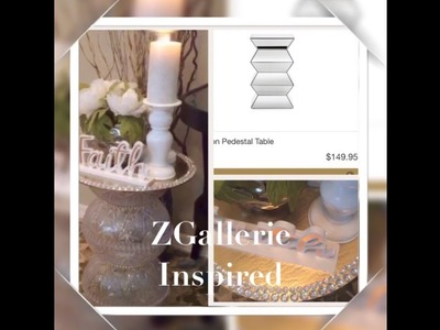 Dollar Tree Pedestal DIY Glass Gems Table Inspired By $149.99 ZGallierie Table Elegance For Less