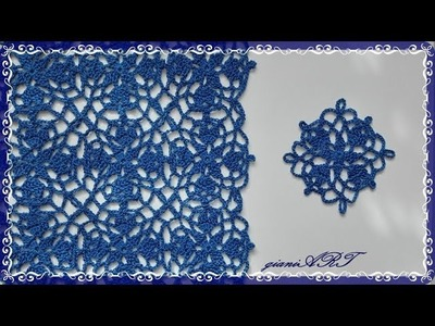 Easy to Crochet Lace BLUE ROYAL Motif and How to Join