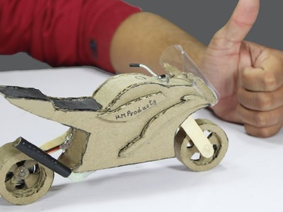 Electric Toy ! How to make a Motorcycle with Cardboard at Home