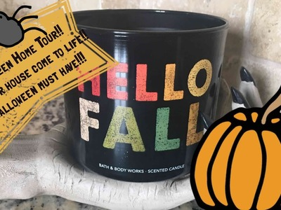 Halloween home Tour 2017 !! Stepping up my decor with my animated windows
