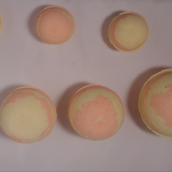 handmade all natural pineapple/orange bath bombs