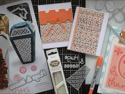 Hot Foiling and Paper Piecing with Tonic Perfumerie Dies :D