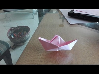 How to make an origami boat made by a 6-year-old boy - Kids to kids origami