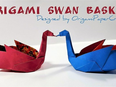 How to make an Origami Swan Basket - By OrigamiPaperCraft