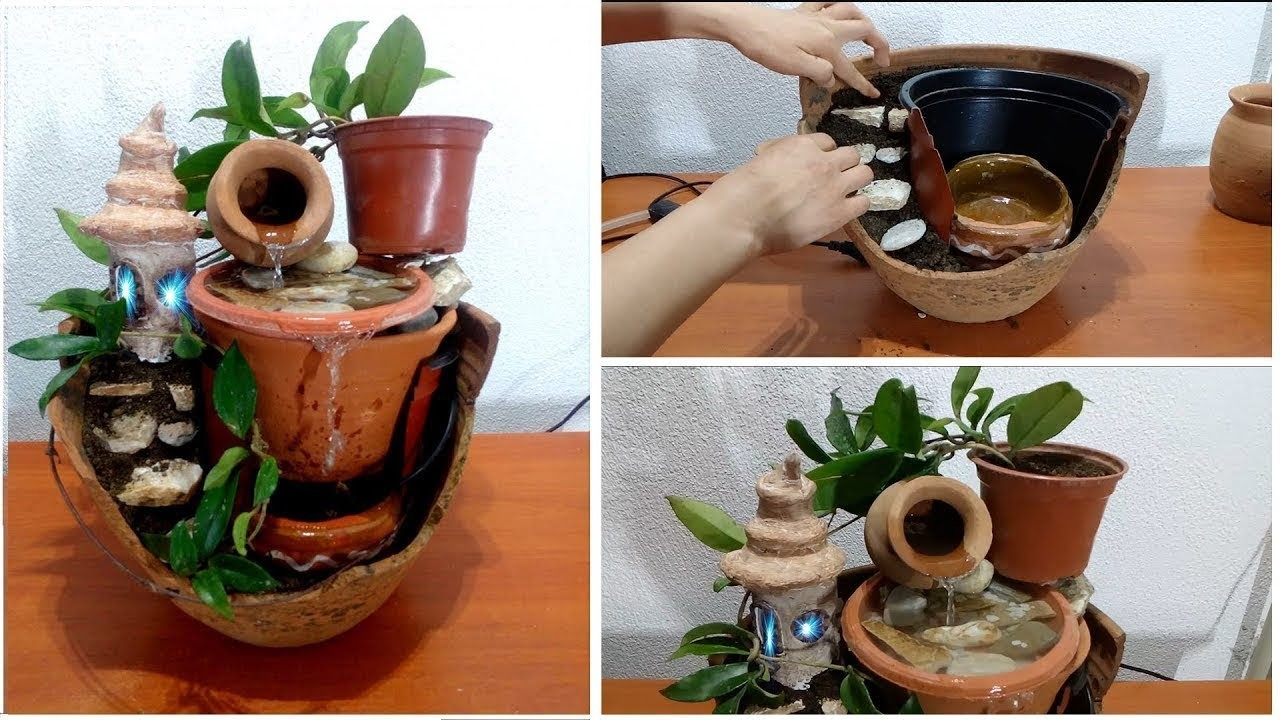 How to make beautiful fountain from broken vase