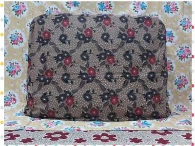 How To Make Box Pillow Cover With Zip (Bethak Takiya with Zip)