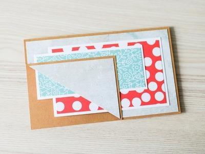 How to make : Simple Greeting Card | Prosta Kartka Okolicznościowa - Mishellka #300 DIY