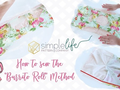 How to sew the burrito roll method for a lined tank bodice. top