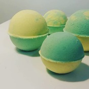 Lime \lemon handmade all natural ingredients bath bombs