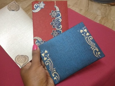 Making easy and pretty Gift envelopes from old invitations