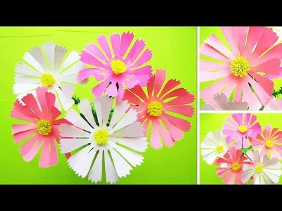 Paper Flower Stick. DIY. Paper Craft. Handcraft. DIY: How to Make Beautiful Paper Flower Stick  # 14