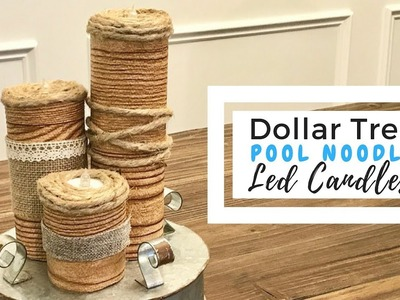 Pool Noodle LED Candles | Dollar Tree DIY | Party Decor | Indoor & Outdoor Decor | Budget Friendly