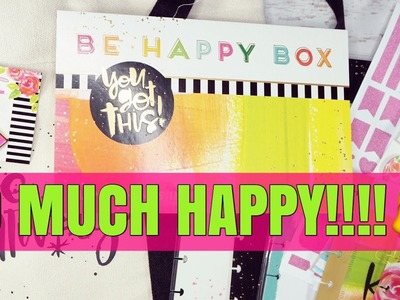 SPECIAL SURPRISE - NEW HAPPY PLANNER | BE HAPPY BOX UNBOXING | HAPPY MAIL CLASSIC HAPPY PLANNER