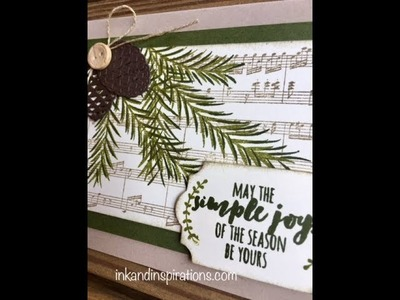 Stampin' Up! Christmas Card in July 2018- Christmas Pines Card