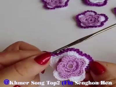 វិធីចាក់ផ្កា  How to draw makeup to flower  Part 1