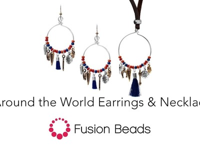 Watch how to make the Around the World Earrings and Necklace set by Fusion Beads