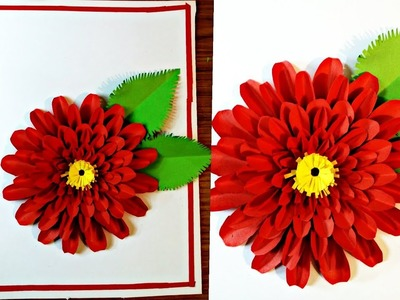 DIY 3D flowers design Card-Paper Crafts-Handmade Craft