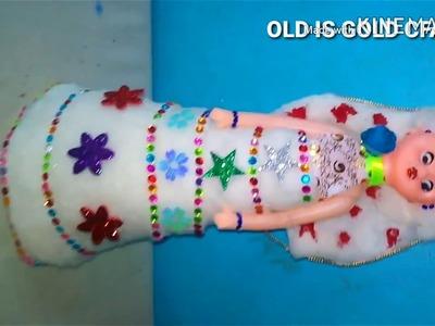 DIY Best idea Doll design craft art    Gudiya teyaar krne ka trika   गुड़िया सजाने का तरीका