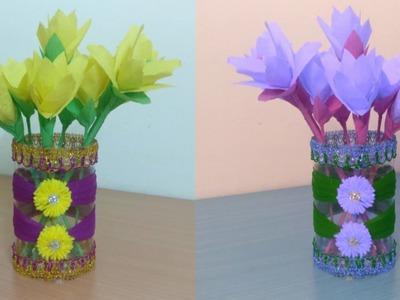 DIY | Corset Vase - Wedding CenterPiece | Best Out of Waste | Plastic Bottle Craft