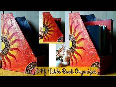 DIY desk book organizer| shoe box craft | #diy book holder |#bestoutofwaste | colours Creativity Spa