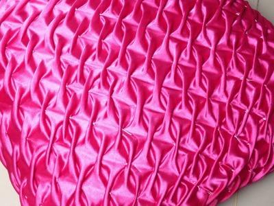 DIY Easy   Smocked Pillow Cover Design  