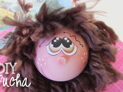 DIY Fofucha Cute and Easy Head - Yarn Hair- Fun Foam Craft