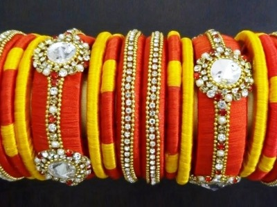 DIY Handmade Jewelry | How to make Silk Thread Bridal Bangles Set | New Design