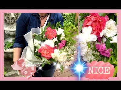 DIY ~ How To Gift Flowers From Your Yard ~ Wrapped Flowers