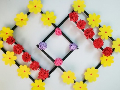 Diy paper flower wall hanging.Simple and beautiful wall hanging.Wall decoration by KovaiCraft #21