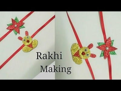 DIY rakhi for kids | kids craft | glitter rakhi easy tutorial | how to make rakhi | rakhi idea