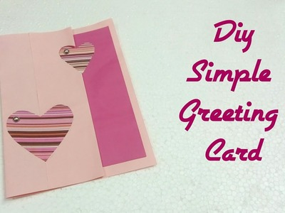 DIY Simple Greeting Card 2018.Art, Craft and Health