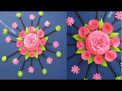 DIY. Simple Home Decor. Wall Decoration Door. Hanging Flower. NEWSPaper Craft Ideas #