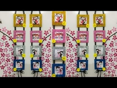 DIY wall hanging photo frames | easy craft idea | wall hanging decoration
