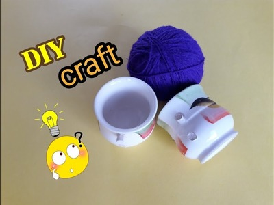 Easy Best Craft Idea || DIY Showpiece Making at || DIY Room Decor. Best Out of Waste Tea Cup & CD