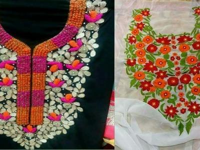 Embroidery And Karchupi Work kurti || Latest Karchupi Design 2018 || Hand Work qamiz