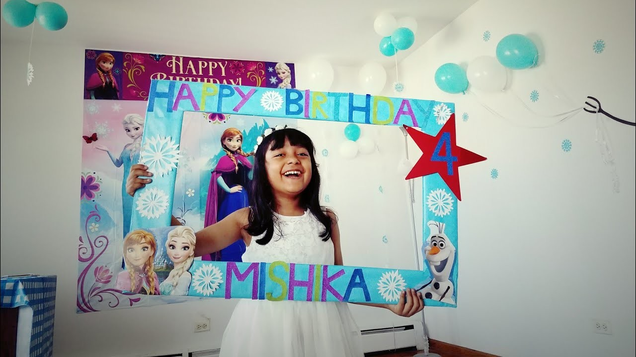Frozen Theme Birthday Decoration Idea Diy Balloon Birthday