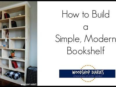 How to Build a Simple Modern Bookshelf