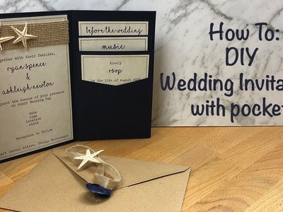 How To: DIY Wedding Invitations with Pockets