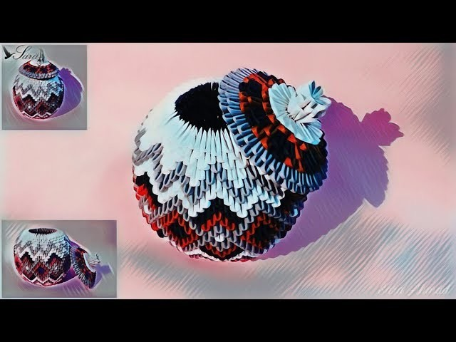 How to make 3d origami box 50
