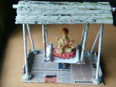 How to make a jhula by Newspaper (beautiful craft) DIY paper