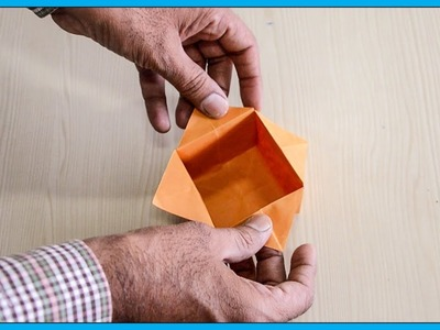 How To Make A Paper Box - Origami Paper Box - Paper Activity For Kids