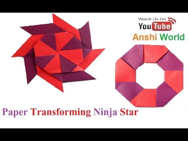 how to make a transforming ninja star with printer paper